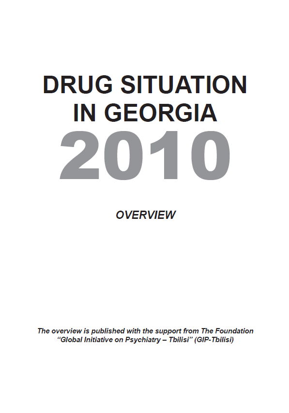 Drug Situation In Georgia 2010