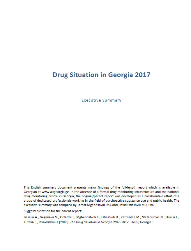 Drug Situation In Georgia 2016- 2017